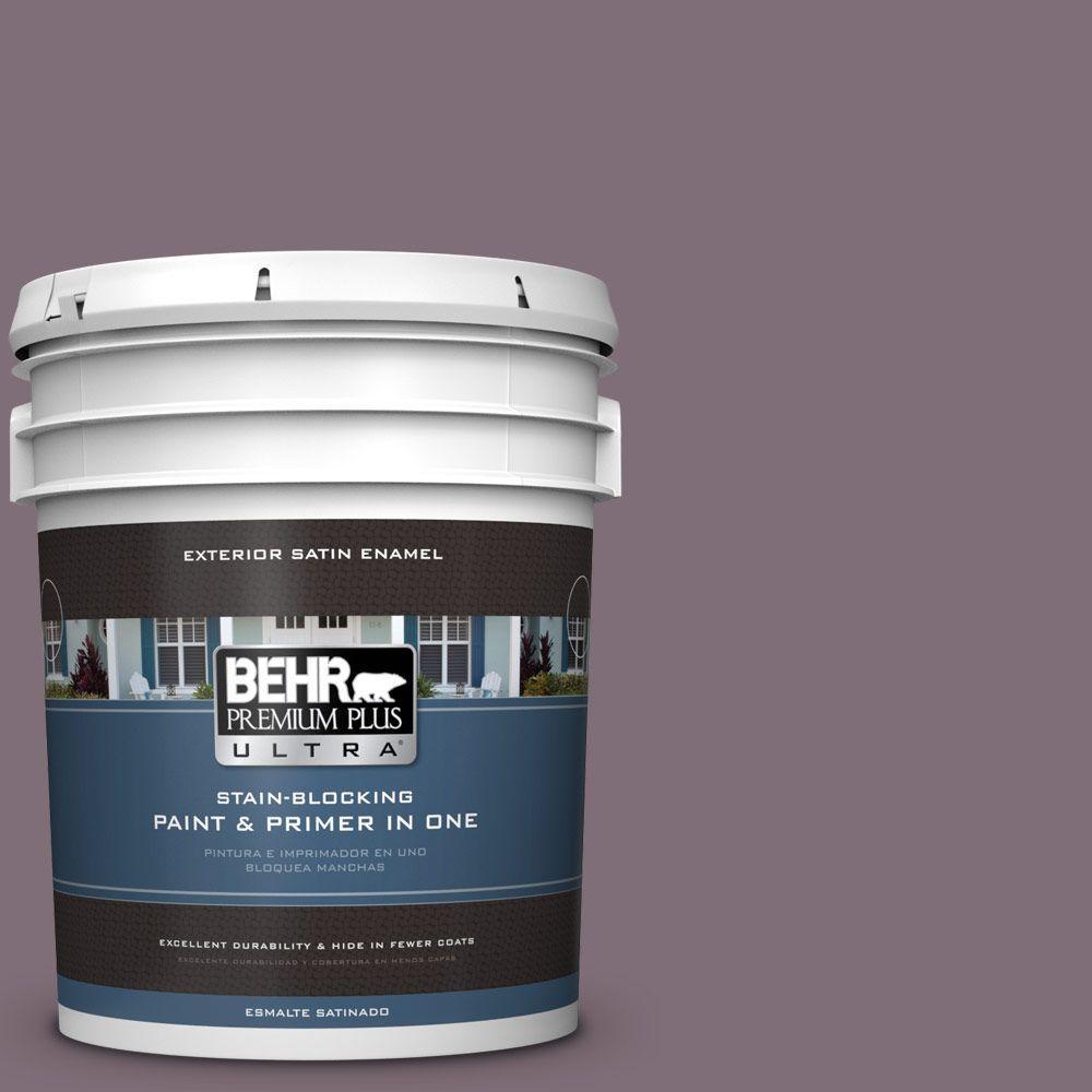 BEHR Premium Plus Ultra 5-gal. #ECC-18-3 Blooming Wisteria Satin Enamel Exterior Paint
