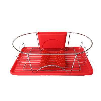 17 in. Dish Rack in Red
