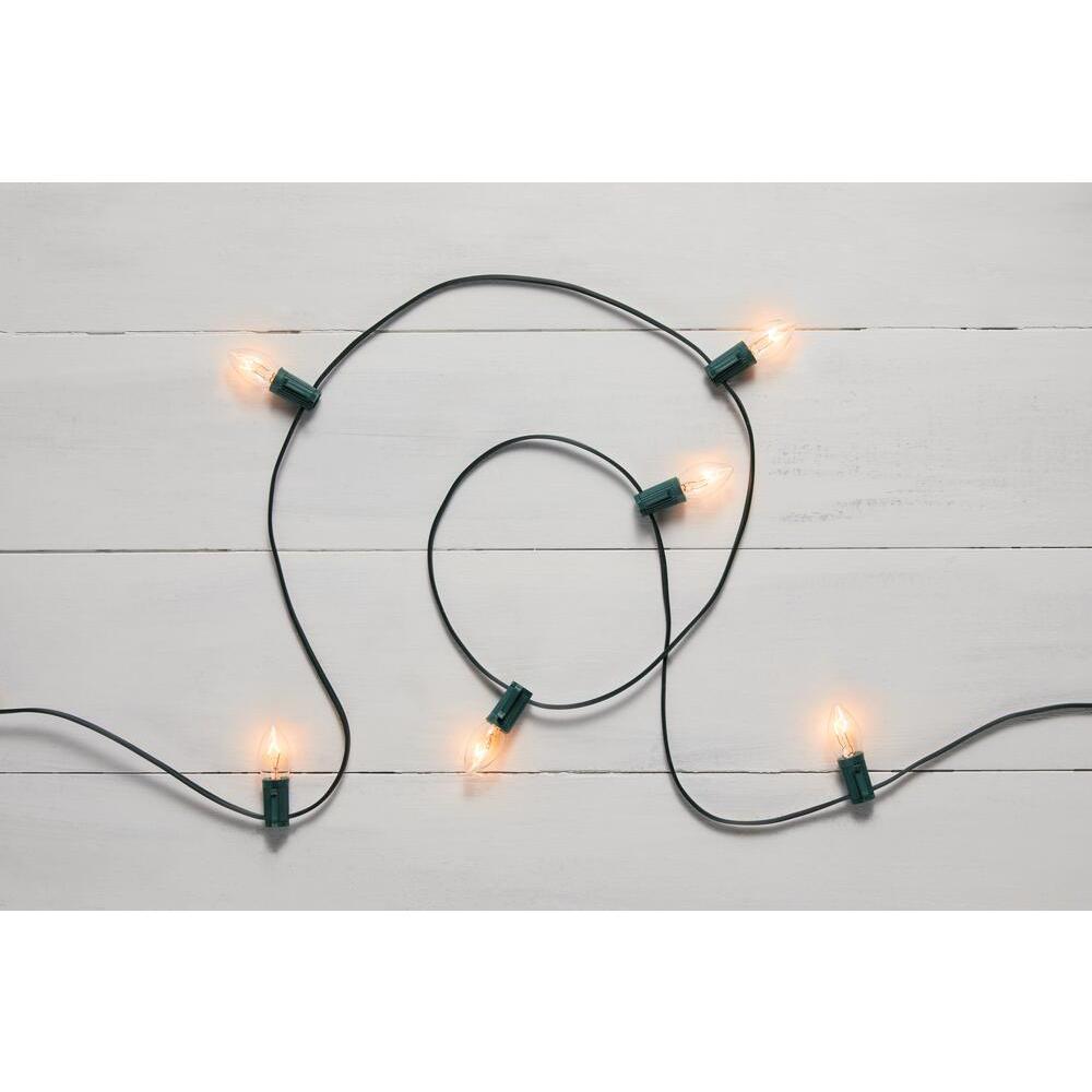 25 Clear Incandescent C7 Lights