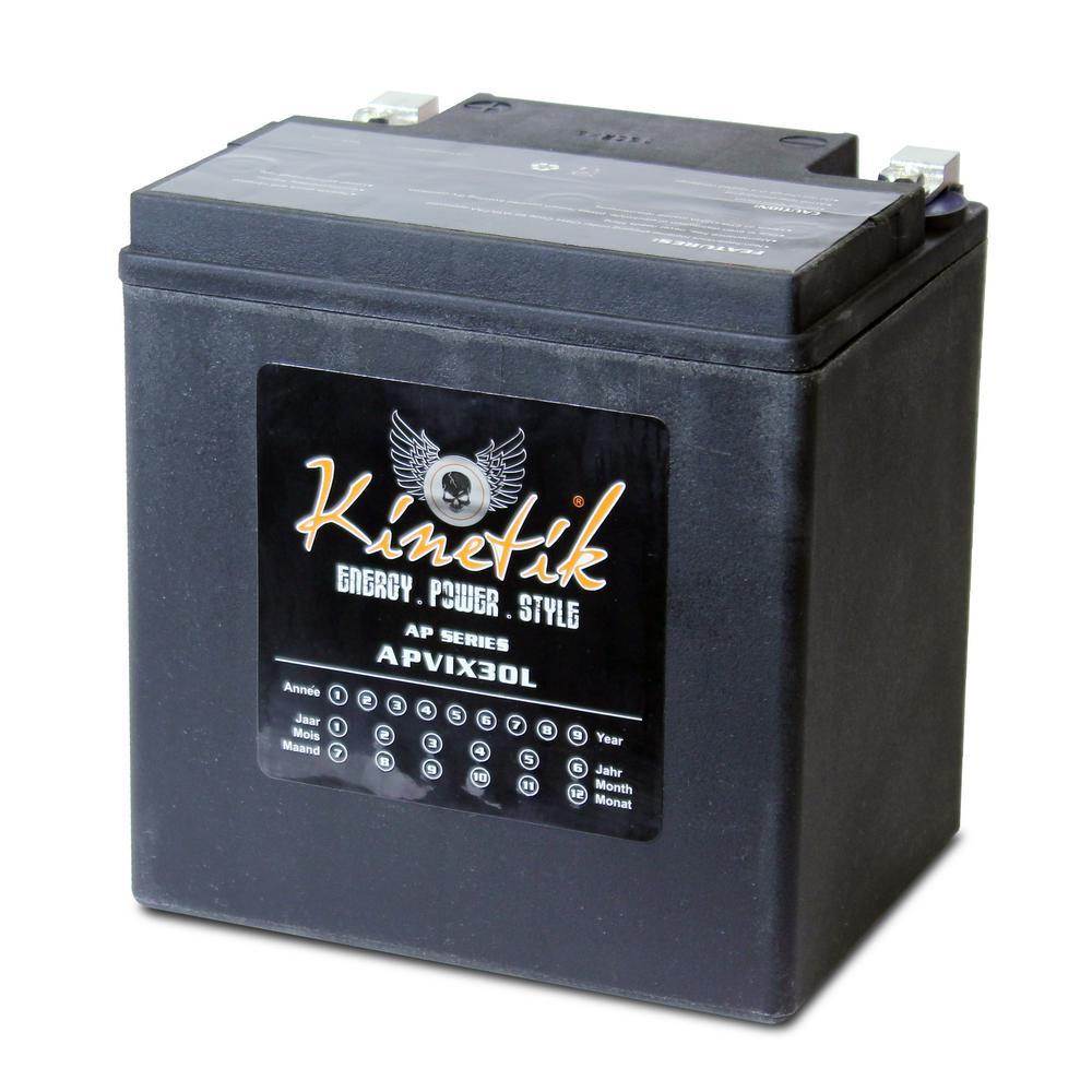 UPG Sealed AGM V-Twin Heavy Duty 12-Volt 30 Ah Capacity HD Terminal Battery