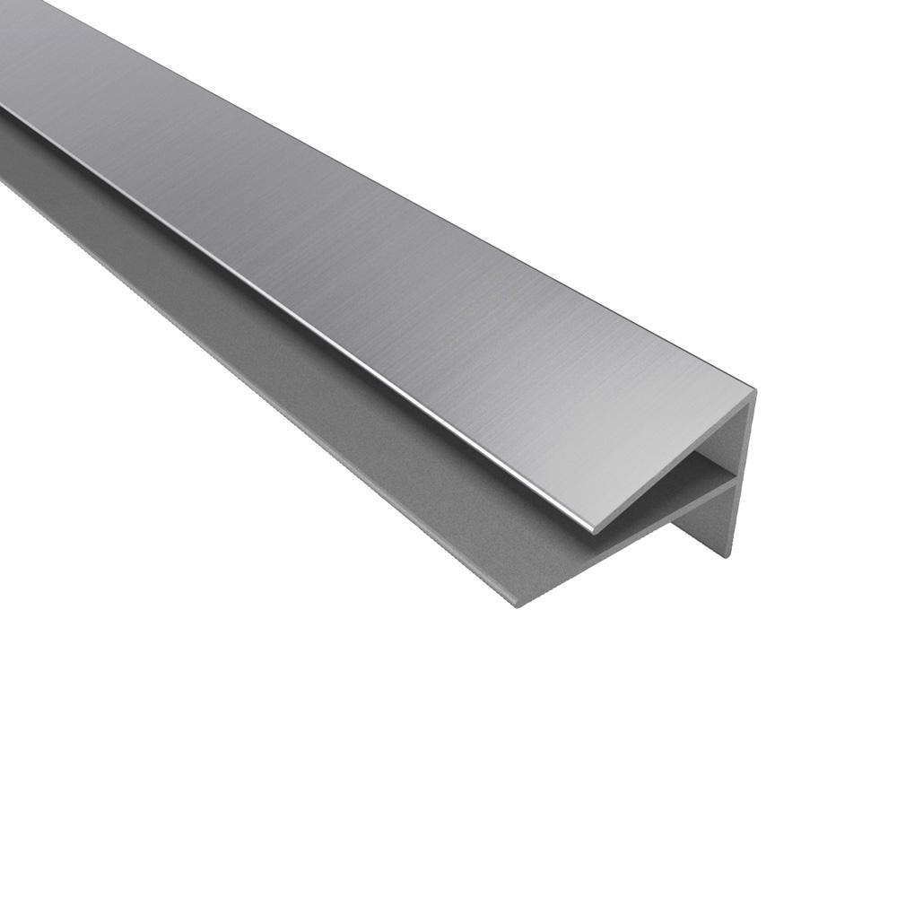 4 ft. Large Profile Outside Corner Trim in Brushed Aluminum