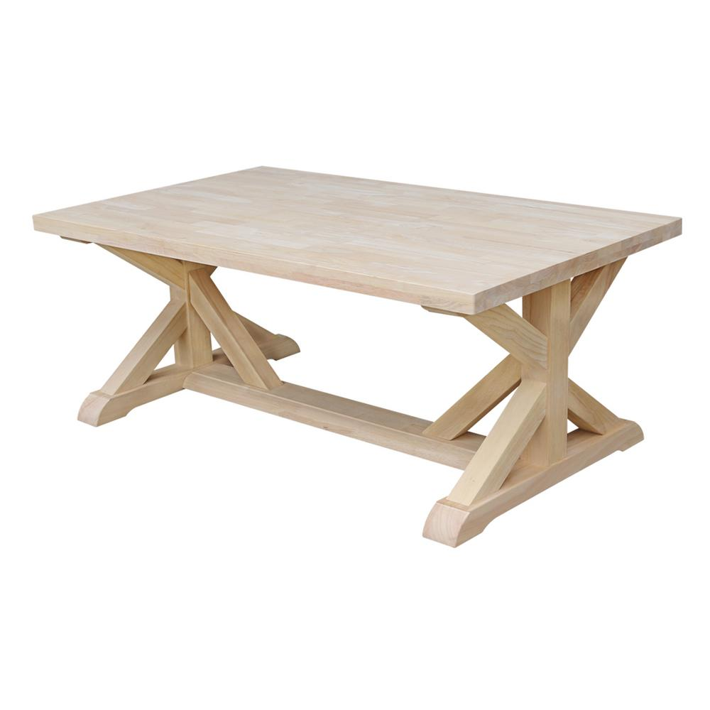 Superbe International Concepts Farmhouse Unfinished Coffee Table
