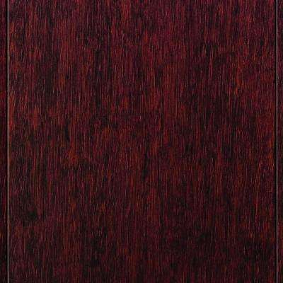 Strand Woven Cherry Click Lock Bamboo Flooring - 5 in. x 7 in. Take Home Sample