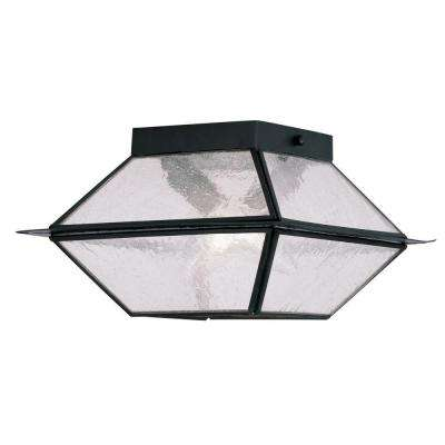 Providence 2-Light Outdoor Black Incandescent Ceiling Mount