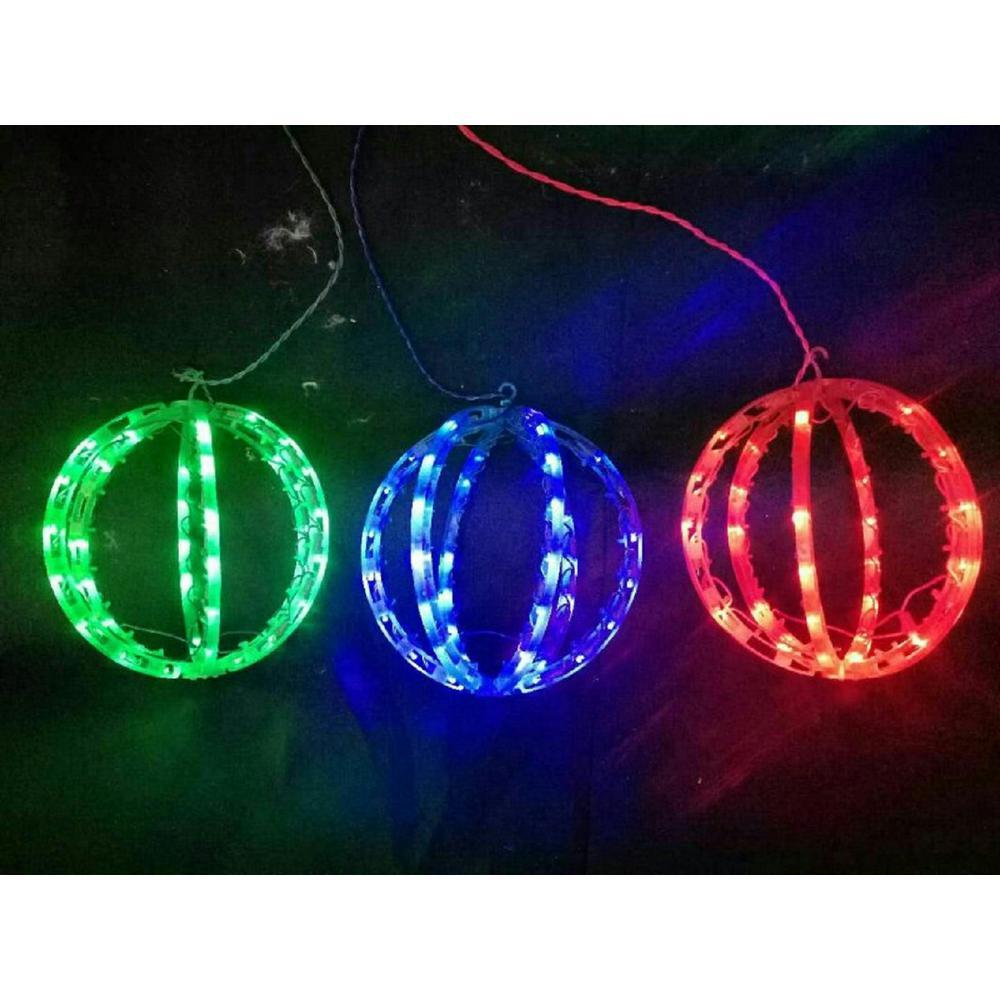 6.5 ft. 120-Light LED Multi-Color Twinkling Spheres String Light