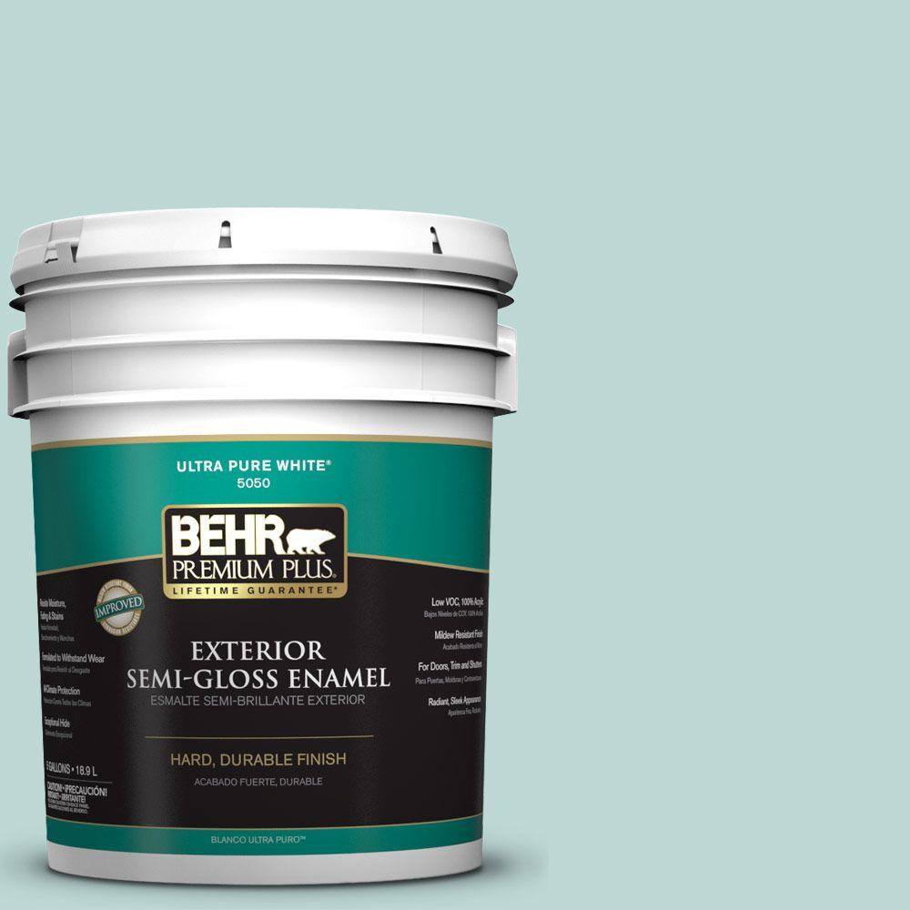 5-gal. #M440-2 Serene Breeze Semi-Gloss Enamel Exterior Paint