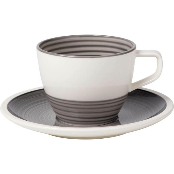 Villeroy Boch Manufacture Gris 8 1 2 Oz Gray Tea Cup 1042311300 The Home Depot