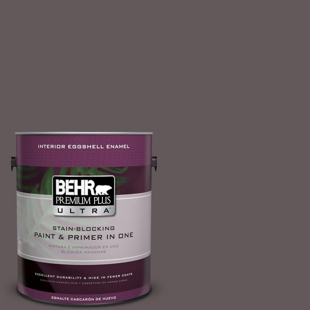 BEHR Premium Plus Ultra 1-gal. #T14-10 Coffee Bar Eggshell Enamel Interior Paint