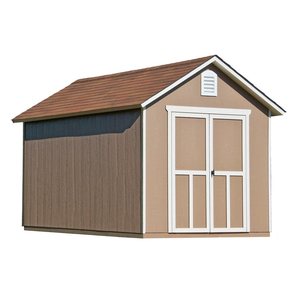 Handy Home Products Meridian 8 ft. x 12 ft. Wood Storage Shed
