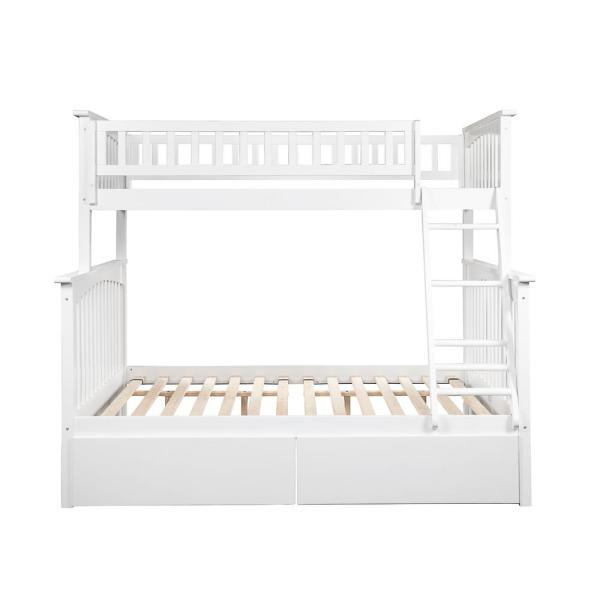 Atlantic Furniture Columbia Bunk Bed Twin Over Full with 2 Urban
