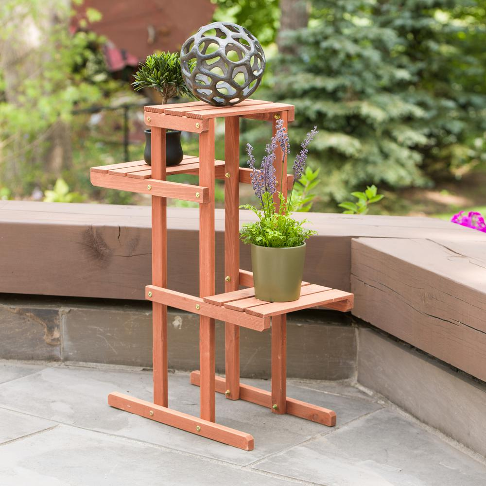 Leisure Season 30 In X 12 In X 24 In 3 Tier Plant Stand