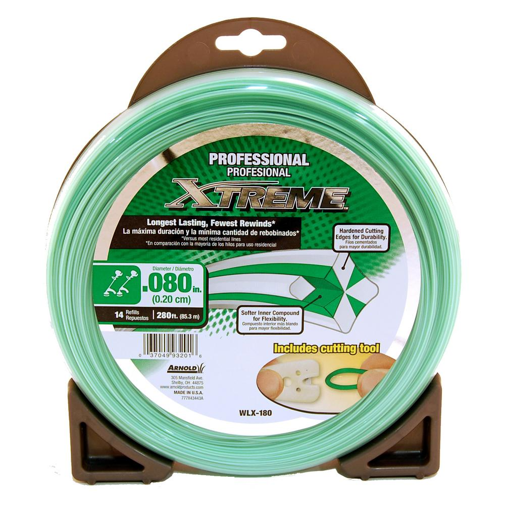 Arnold Professional Xtreme 280 ft. 0.080 in. Universal 4 Point Star Trimmer Line with Line Cutting Tool