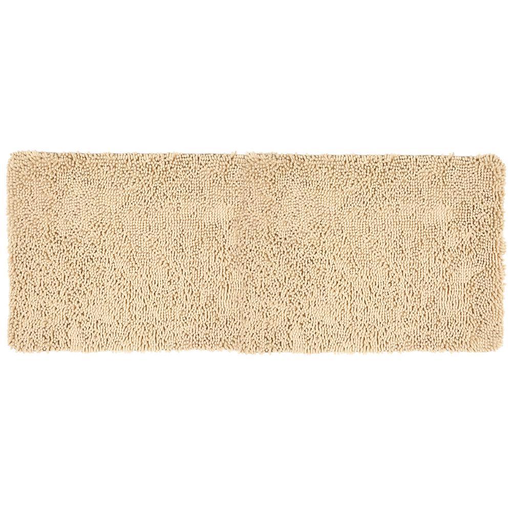 Lavish Home Ivory 24 In X 60 Memory Foam Bath Mat