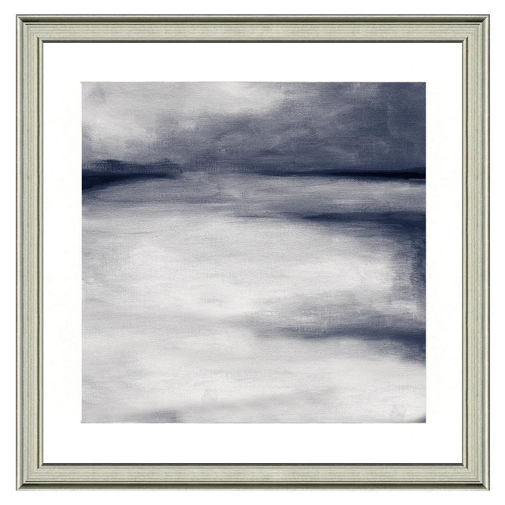 """""""Gray horizon II"""" Framed Archival Paper Wall Art (26 in. x 26 in. in full size)"""