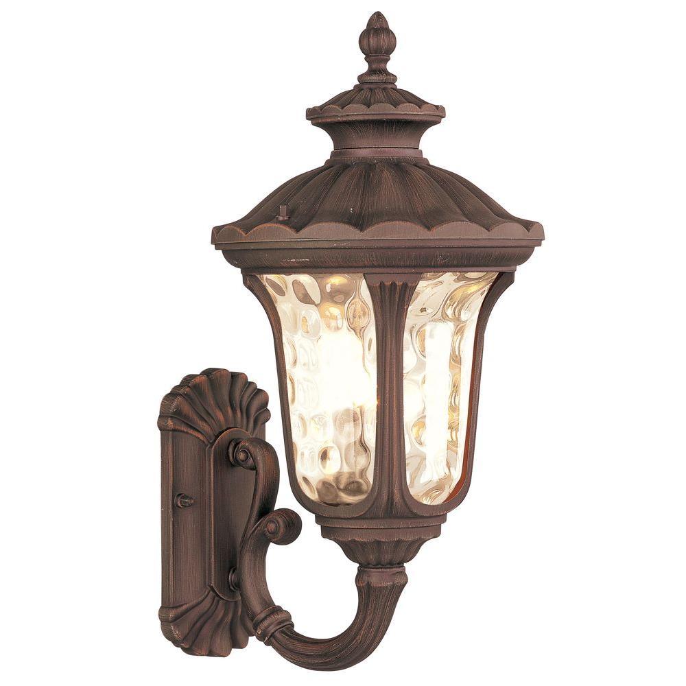 Livex Lighting 1-Light Imperial Bronze Outdoor Wall Lantern