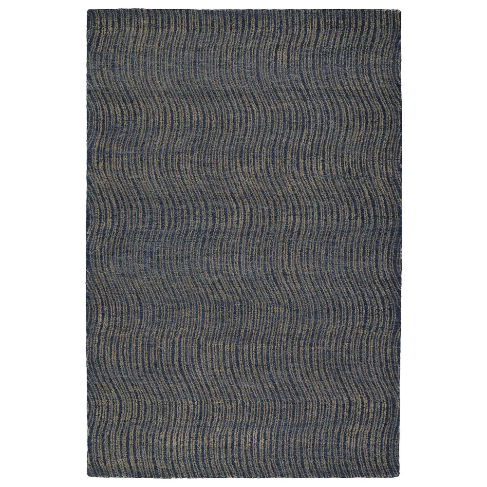 Textura Blue 9 ft. x 12 ft. Area Rug