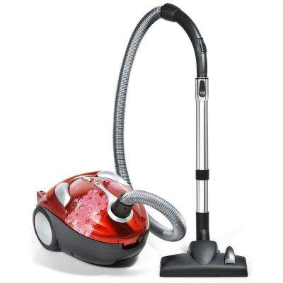 Tattoo Crimson Bouquet Bagged Canister Vacuum Cleaner
