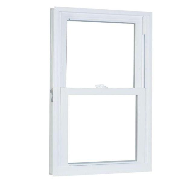 29.75 in. x 53.25 in. 70 Series Pro Double Hung White Vinyl Window with Buck Frame