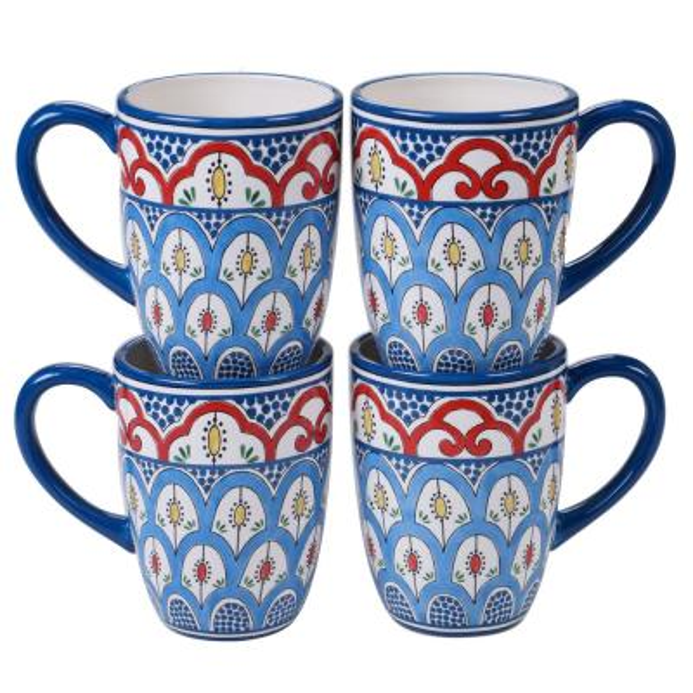 Tangier 4-Piece Multi-Colored 22 oz. Mug Set