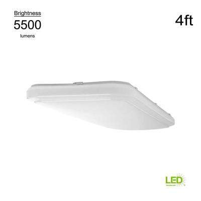 Wrap Style 4 ft. x 1.5 ft. Rectangular White 128 Watt Equivalent Integrated LED Flushmount (Bright/Cool White, Dimmable)