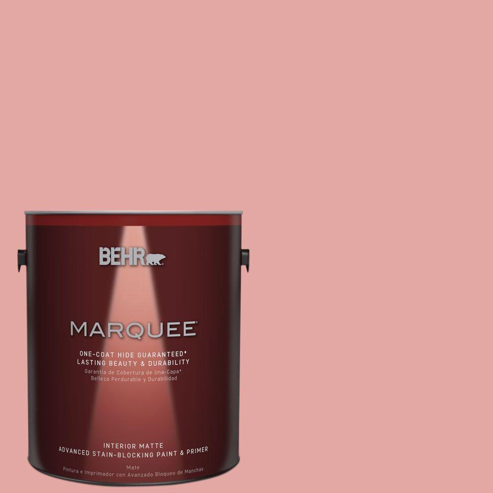 BEHR MARQUEE 1 gal. #MQ4-3 Coral Fountain One-Coat Hide Matte Interior Paint