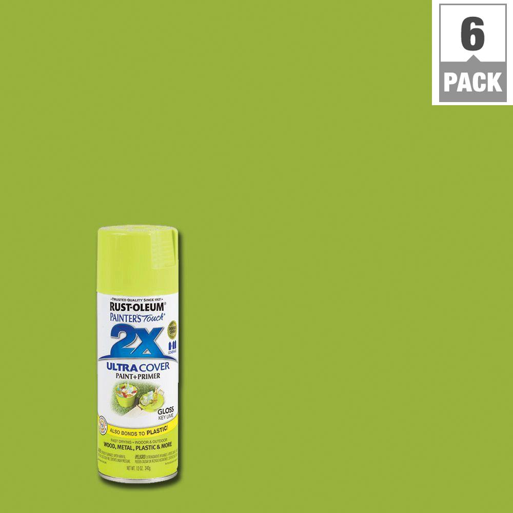 Rust Oleum Painter 39 S Touch 2x 12 Oz Gloss Key Lime General Purpose Spray Paint 6 Pack 249104