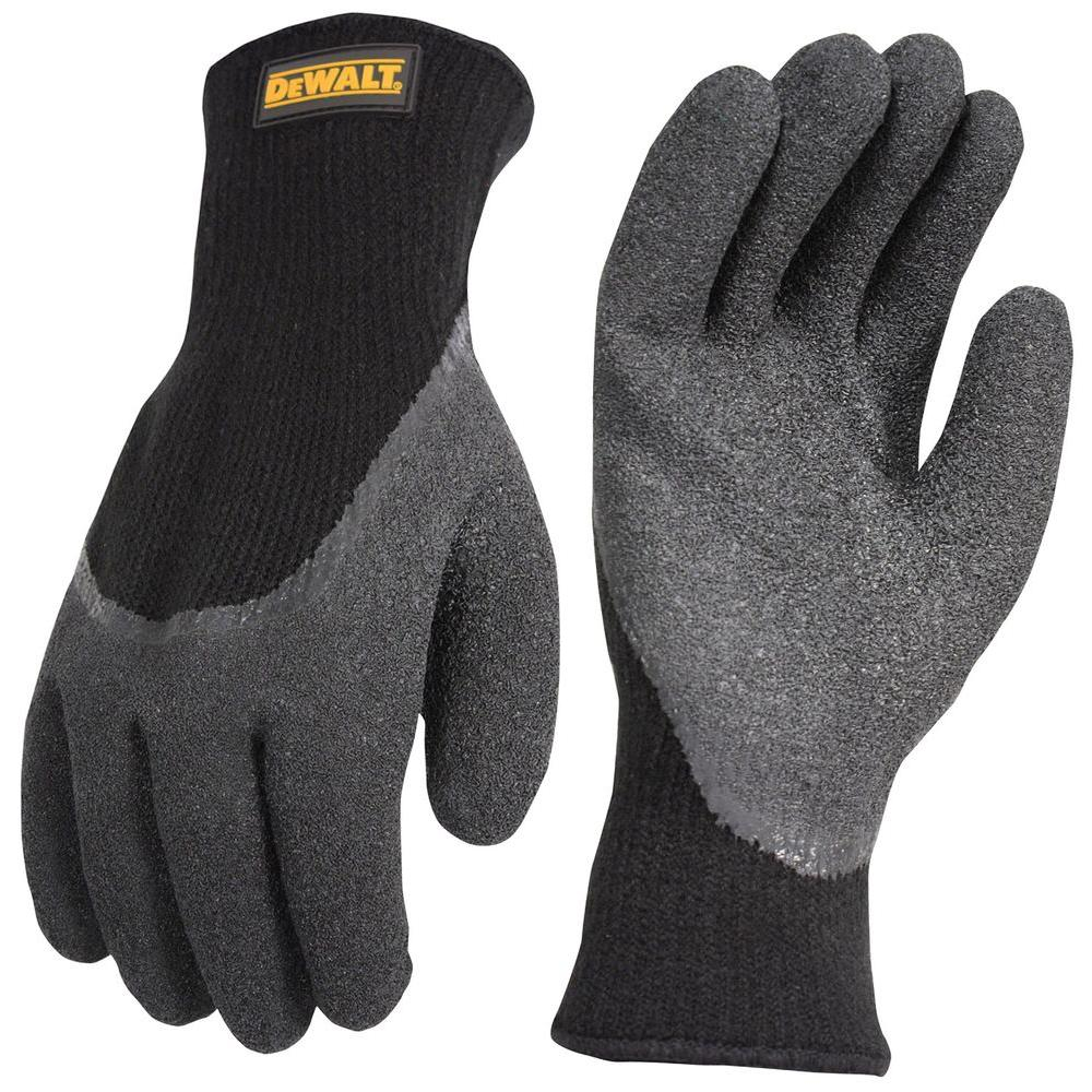 2 FOR THE PRICE OF 1 MENS BLACK THERMAL GLOVES HEAVY DUTY ACRYLIC WORK GLOVES