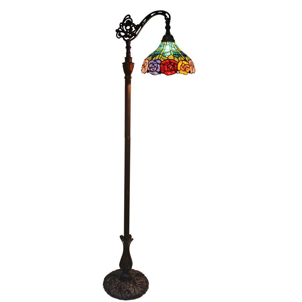Amora lighting 62 in tiffany style roses reading floor lamp amora lighting 62 in tiffany style roses reading floor lamp aloadofball Gallery