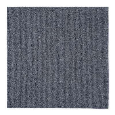 Nexus Smoke 12 in. x 12 in. Peel and Stick Carpet Tiles (12 Tiles/Case)