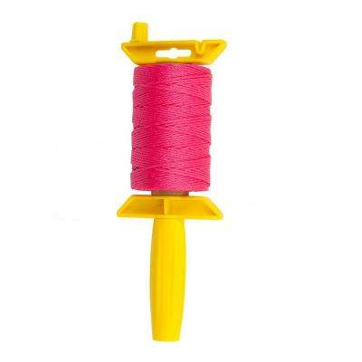 #18 in. x 425 ft. Pink Twisted Polypropylene Mason Twine with Reloadable Winder