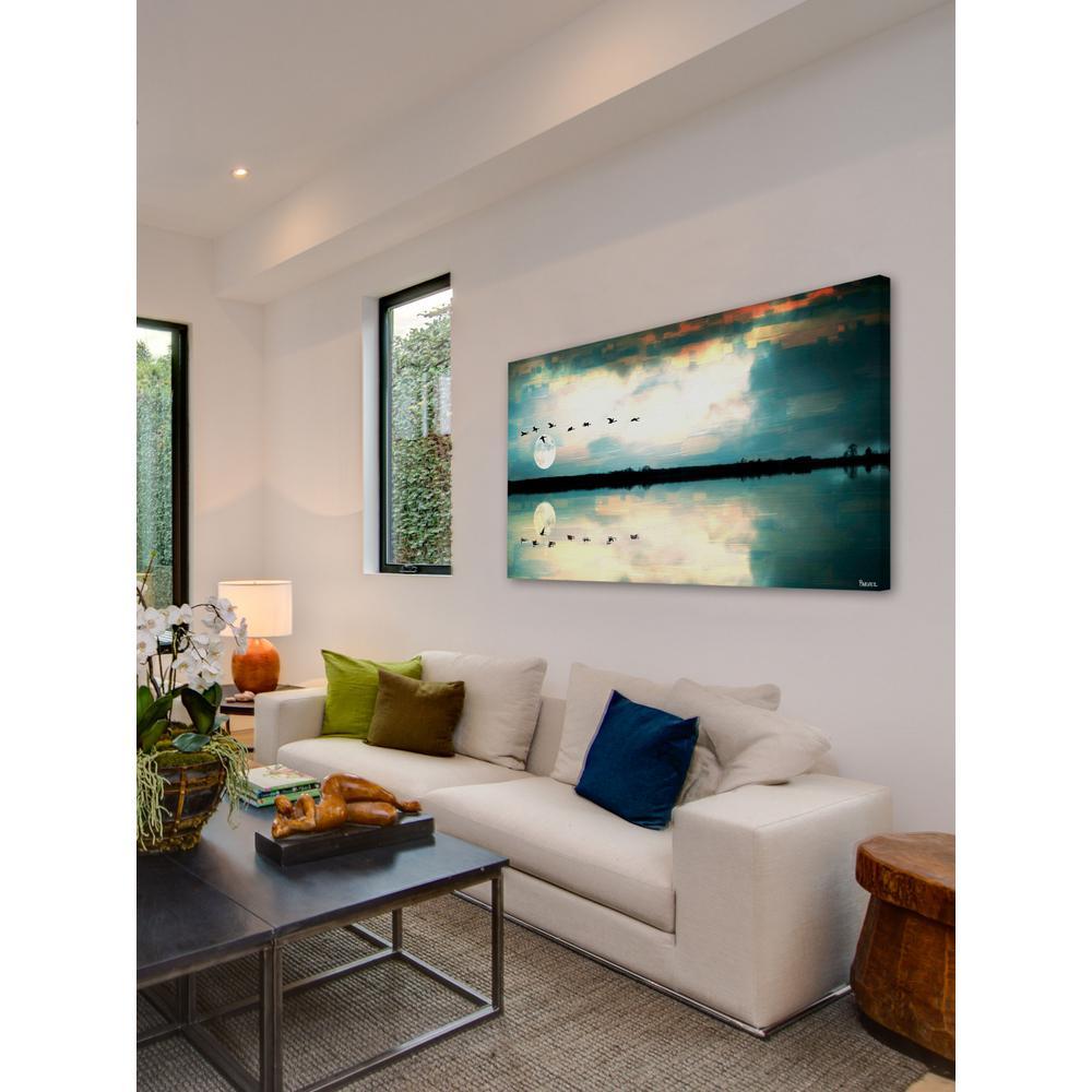 "30 in. H x 60 in. W ""Attleborough"" by Parvez Taj Printed Canvas Wall Art"