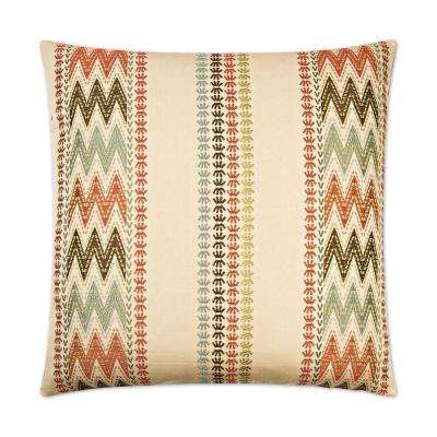 Caftan Feather Down 24 in. x 24 in. Standard Decorative Throw Pillow