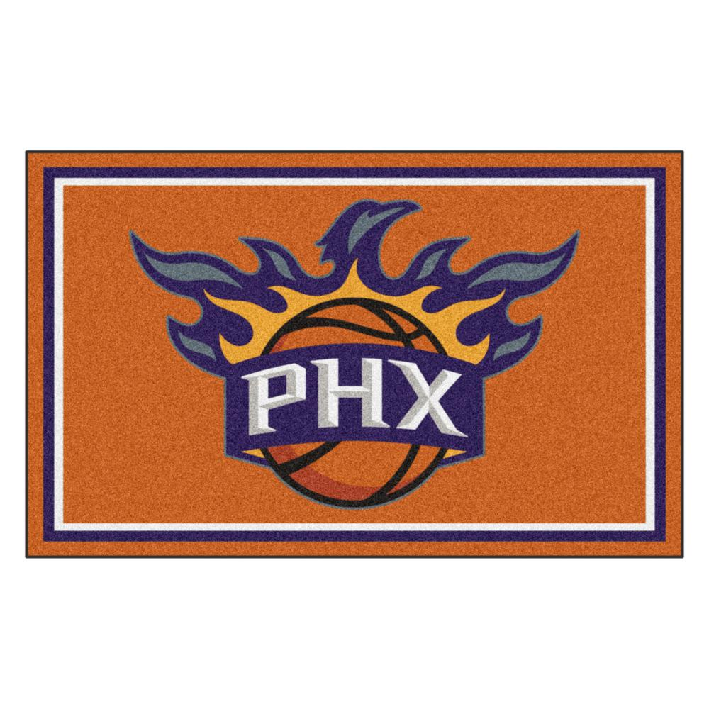 1d32d88b8f7 FANMATS NBA - Phoenix Suns Orange 4 ft. x 6 ft. Area Rug-20441 - The ...