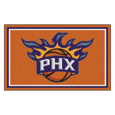 NBA - Phoenix Suns Orange 4 ft. x 6 ft. Area Rug