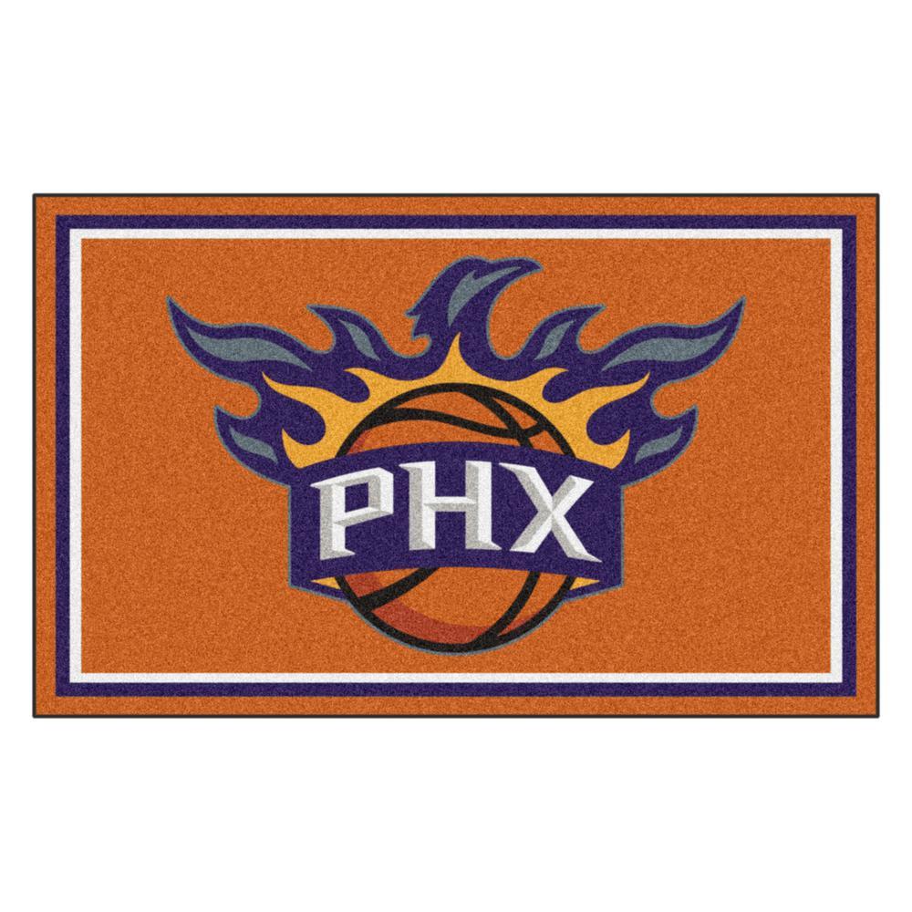 NBA - Phoenix Suns Orange 4 ft. x 6 ft. Area Rug