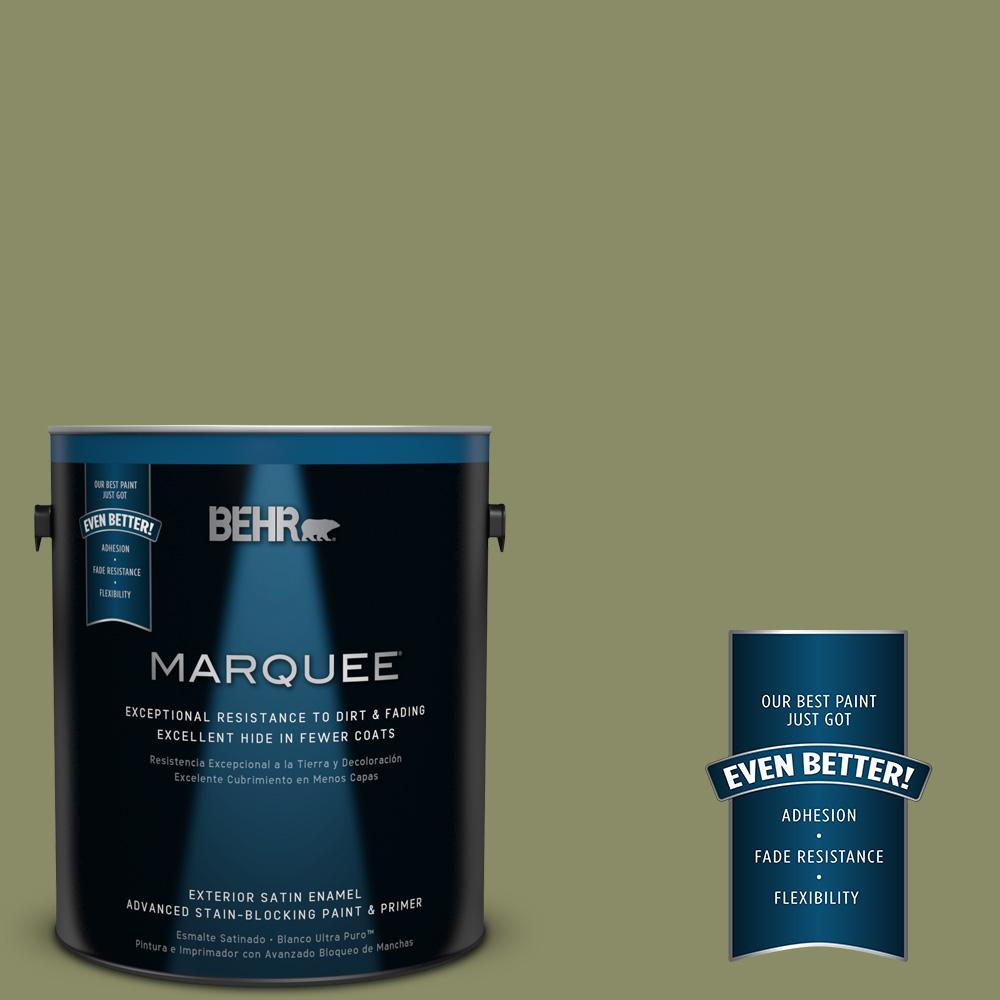 BEHR MARQUEE 1-gal. #S370-5 Pesto Paste Satin Enamel Exterior Paint