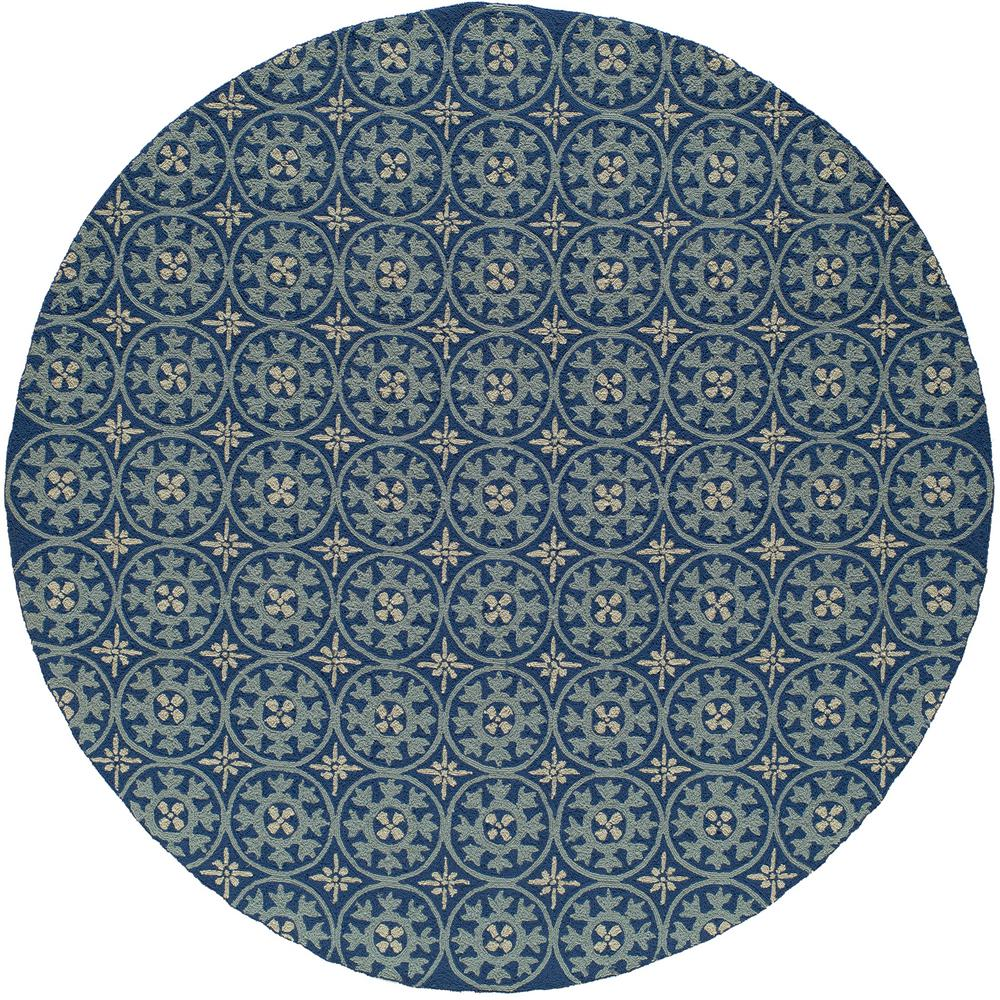 momeni veranda blue 9 ft x 9 ft round indoor area rug veranvr 26blu900r the home depot. Black Bedroom Furniture Sets. Home Design Ideas