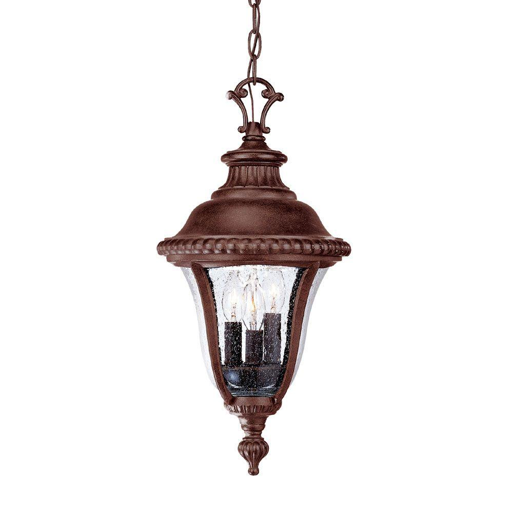 Acclaim Lighting Windsor Collection 3-Light Black Coral Outdoor Hanging Light Fixture
