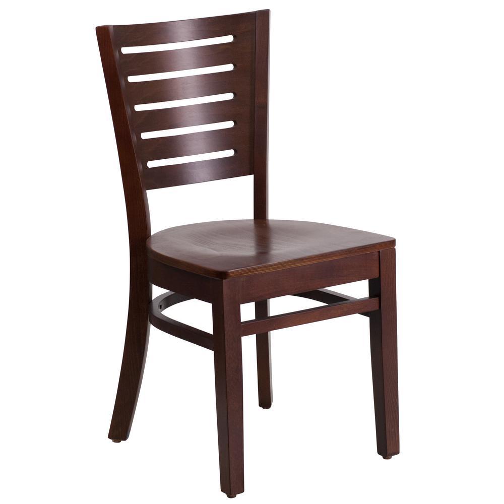 Darby Walnut Wood Seat/Walnut Wood Frame Side Chair