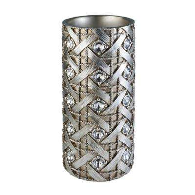 18.50 in. Decorative Vase in Silver Dazzle