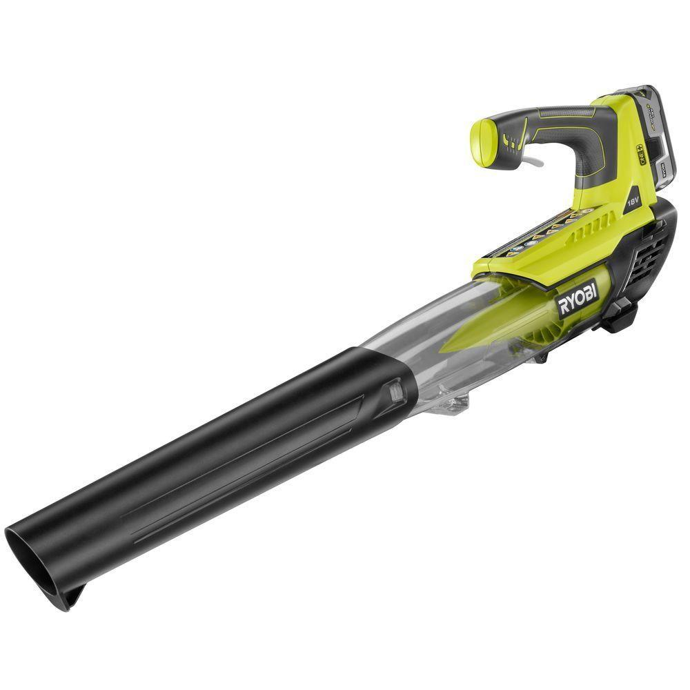 RYOBI Reconditioned ONE+ 100 MPH 280 CFM 18-Volt Lithium-Ion Cordless Leaf Blower - 4.0 Ah Battery and Charger Included
