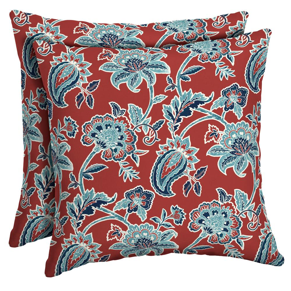 Arden Selections 16 X 16 Caspian Square Outdoor Throw Pillow 2 Pack