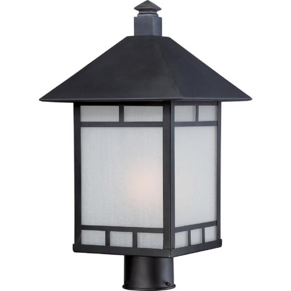 Steve 1-Light Outdoor Stone Black Post Light