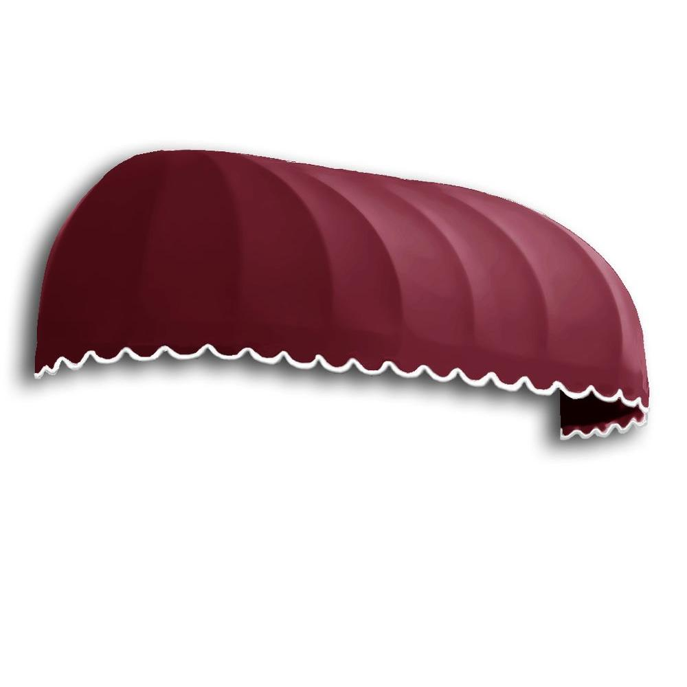 AWNTECH 4 ft. Chicago Window Awning (31 in. H x 24 in. D in Burgundy