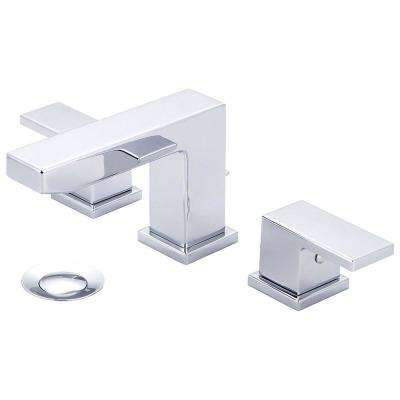 Mod 8 in. Widespread 2-Handle Bathroom Faucet in Polished Chrome