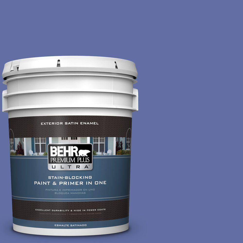 5-gal. #610B-6 Stained Glass Satin Enamel Exterior Paint