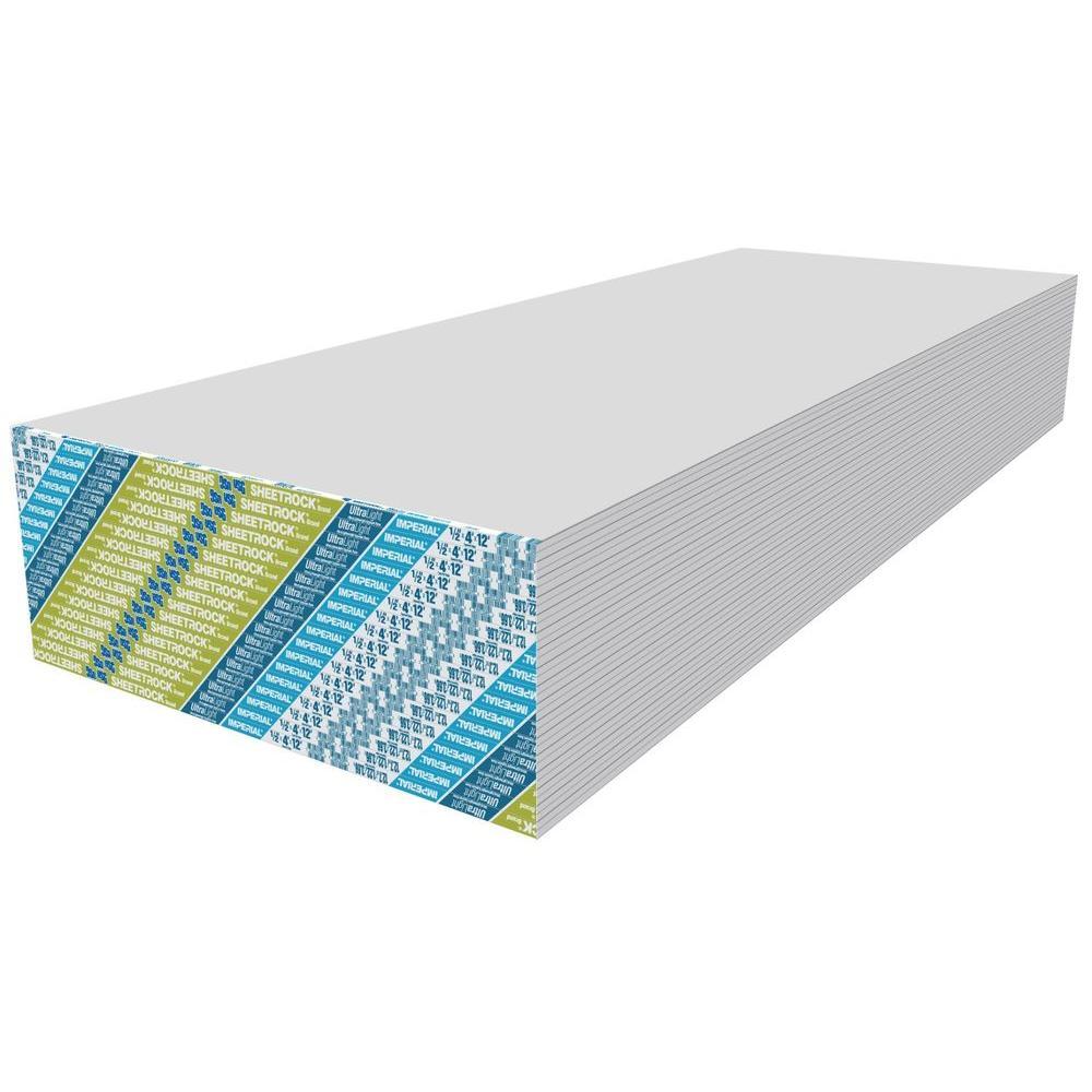Sheetrock Ultralight 1 2 In X 4 Ft X 12 Ft Gypsum Board