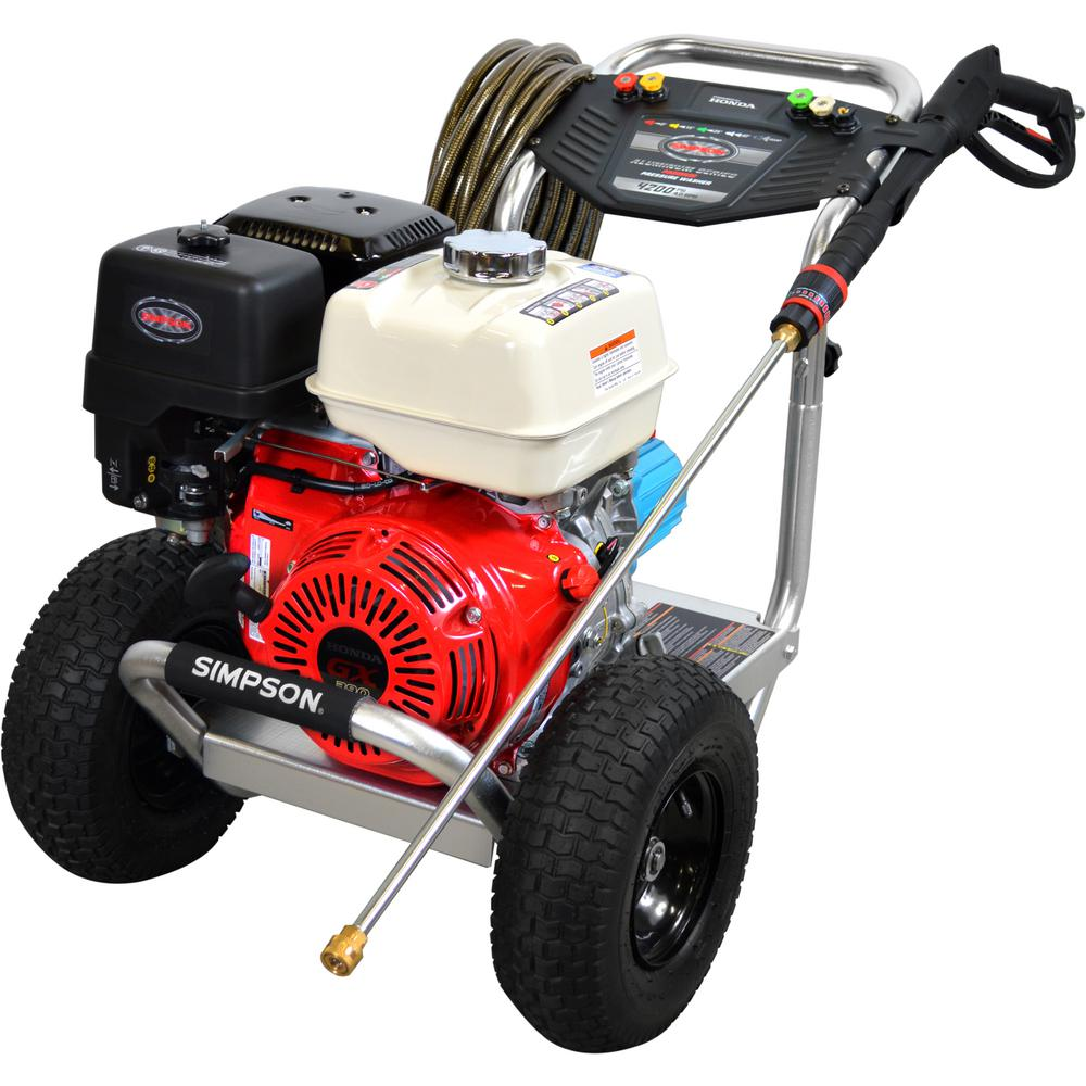 Simpson Aluminum 4200 PSI at 4.0GPM HONDA GX390 with CAT Triplex Plunger Pump Cold Water Professional Gas Pressure Washer