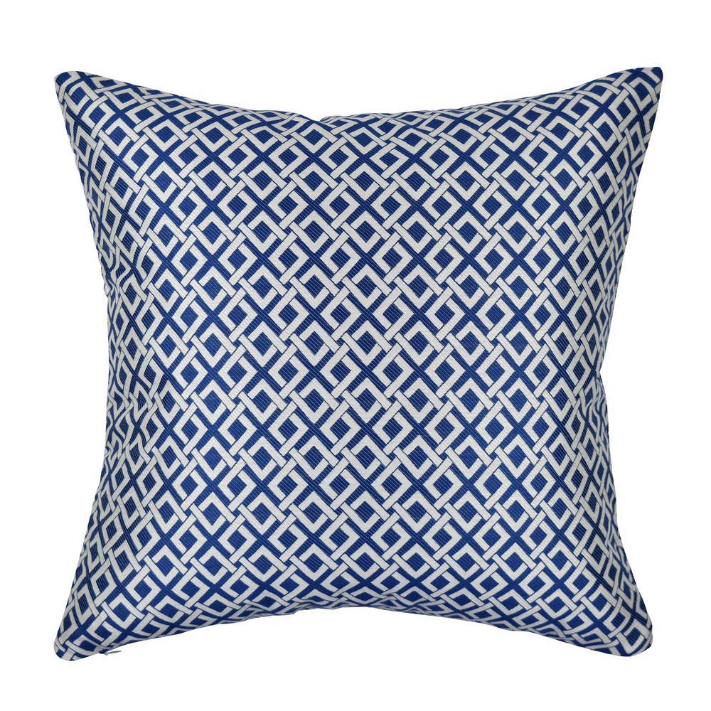 Modern Blue Pillows : Vesper Lane 18 in. x 18 in. Modern Blue Pillow-GE02BLZ18I - The Home Depot