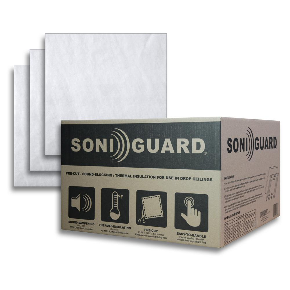 Ceilume Soniguard 24 In X 24 In Drop Ceiling Acoustic Thermal Insulation Case Of 24